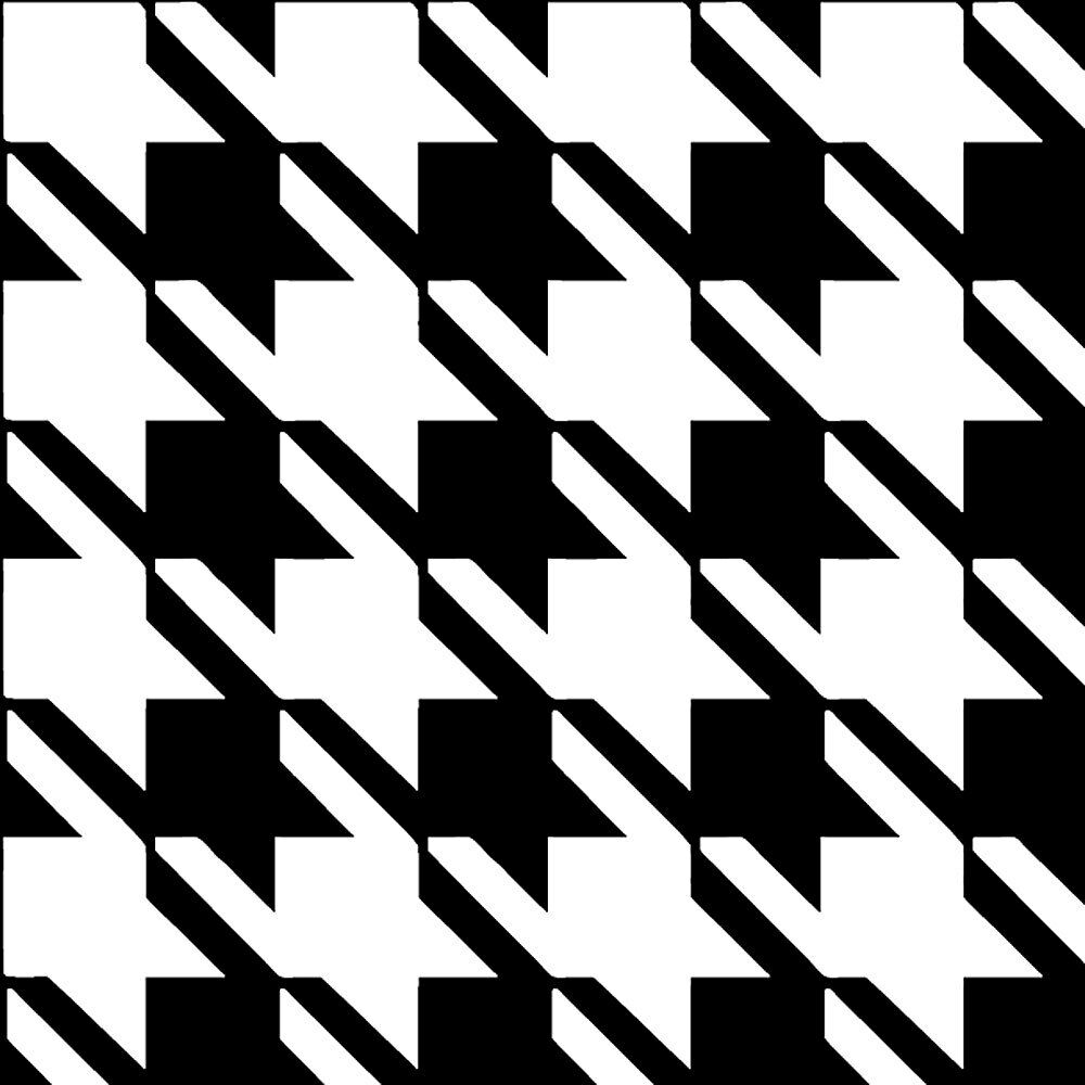 Houndstooth stencil design craft template by cutting edge picture 1 of 2 amipublicfo Image collections
