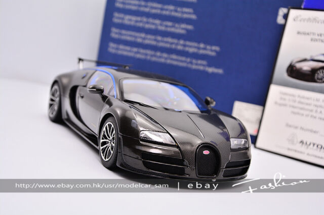 Autoart 1:18 Bugatti Veyron Carbon Black