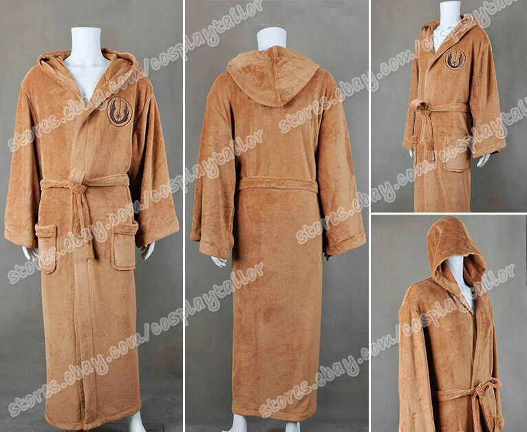 Star Wars Cosplay Jedi Knight Costume Brown Bathrobes Dressing Gown ...