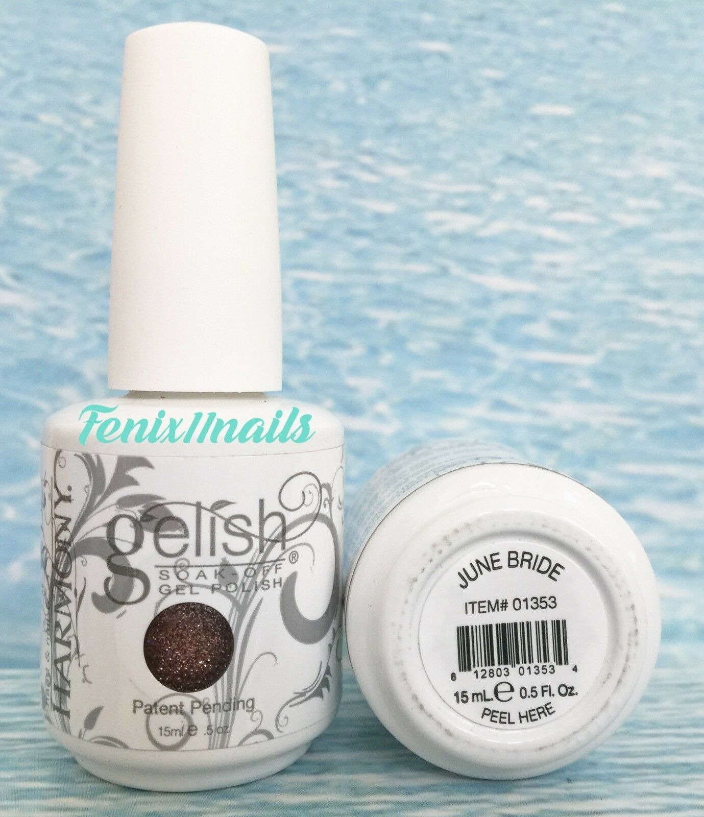 Nail Harmony Gelish Soak off GEL Polish - 01353 June Bride 0.5oz ...