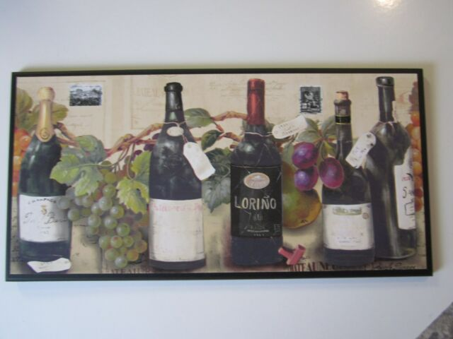 Wine Wall Decor Plaque Kitchen Sign Italian French G Picture
