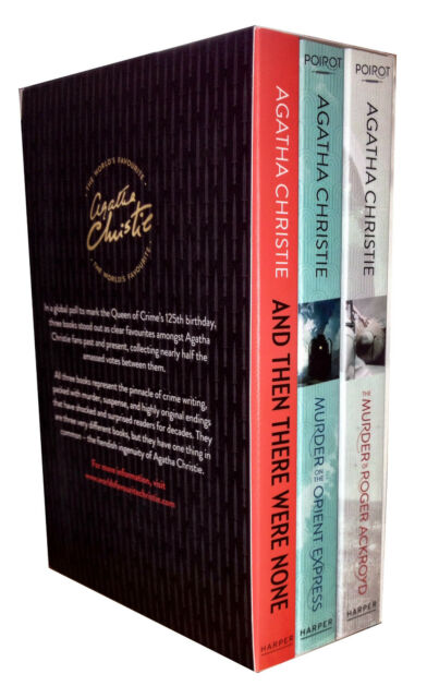 The World's Favourite 3 Books Collection Box Gift Set Pack Agatha Christie NEW