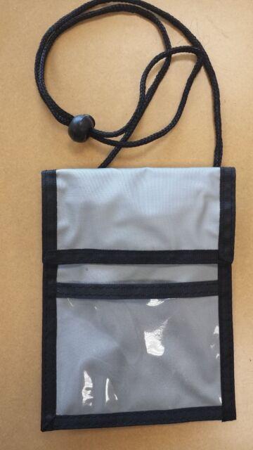 NEW ID Badge Passport Holder Press Pass Neck Strap Organizer Pouch