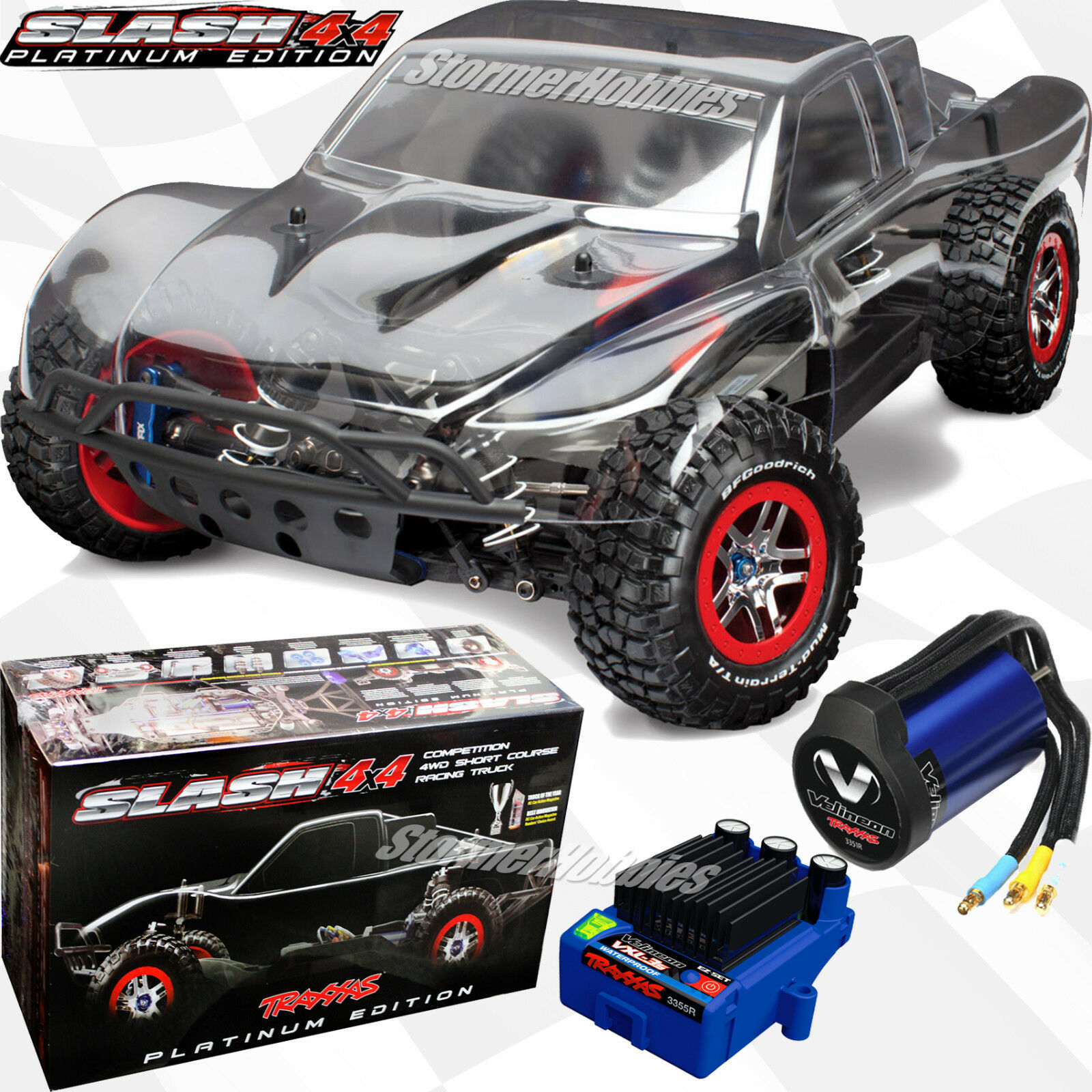 Traxxas Slash 4x4 Platinum Brushless ARR Short Course Truck w LCG chassis