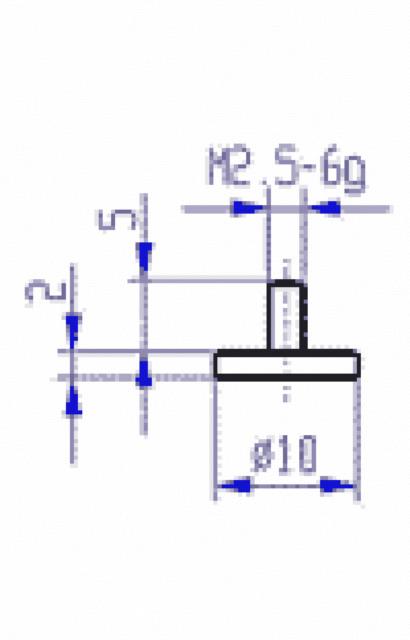 62126  Messeinsatz Stahl 20mm für Messuhr 573/11-20