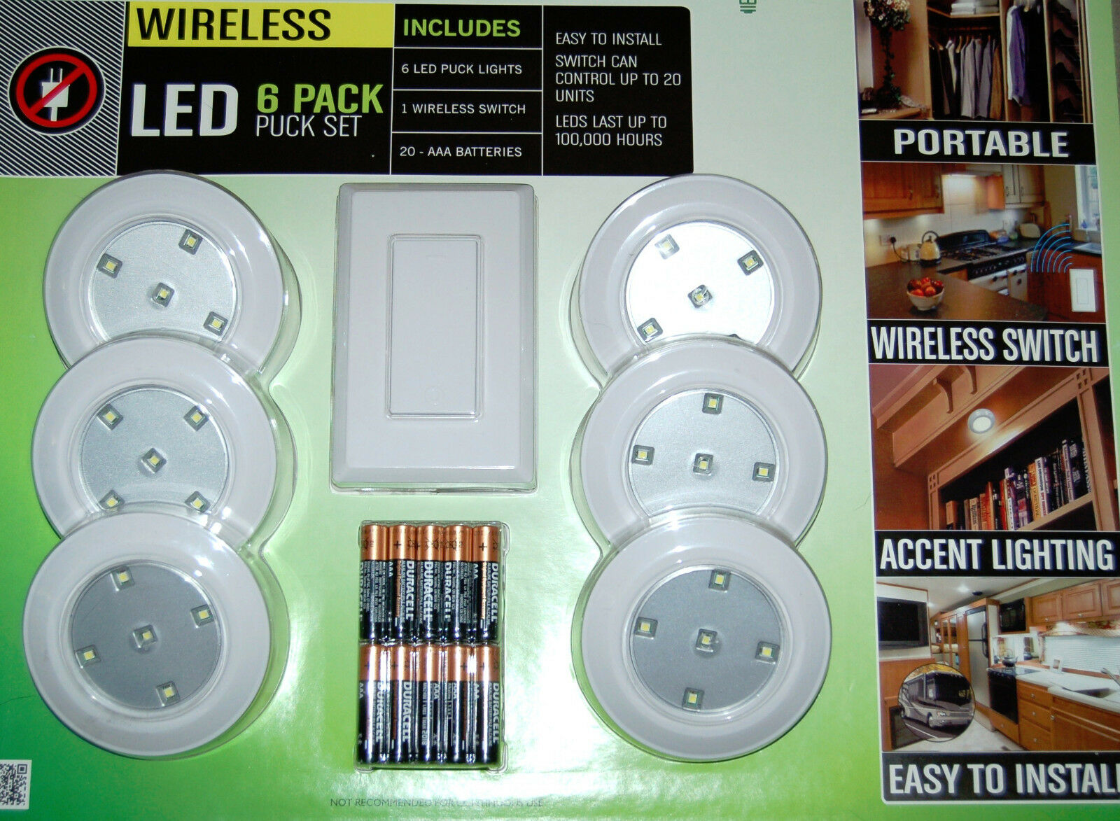 Lightmates led wireless puck lights with remote batteries 6 pack ebay resntentobalflowflowcomponenttechnicalissues aloadofball Gallery