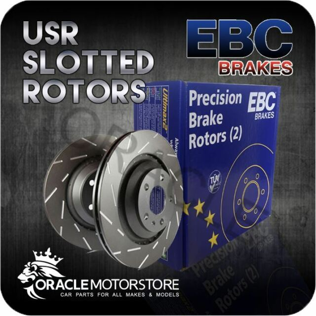 NEW EBC USR SLOTTED FRONT DISCS PAIR PERFORMANCE DISCS OE QUALITY - USR7408