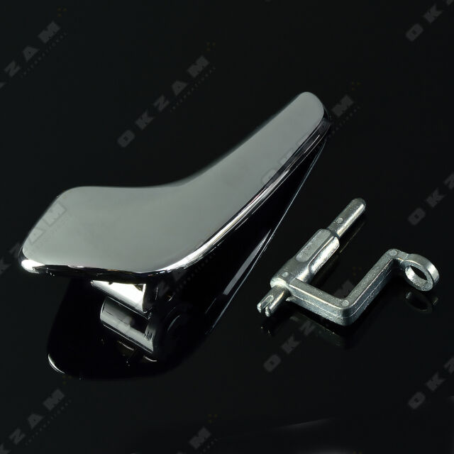 INTERIOR CHROME DOOR HANDLE + ROD FRONT REAR LEFT FOR OPEL VAUXHALL CORSA D NEW & Interior Chrome Door Handle Rod Front Rear Left for OPEL VAUXHALL ...