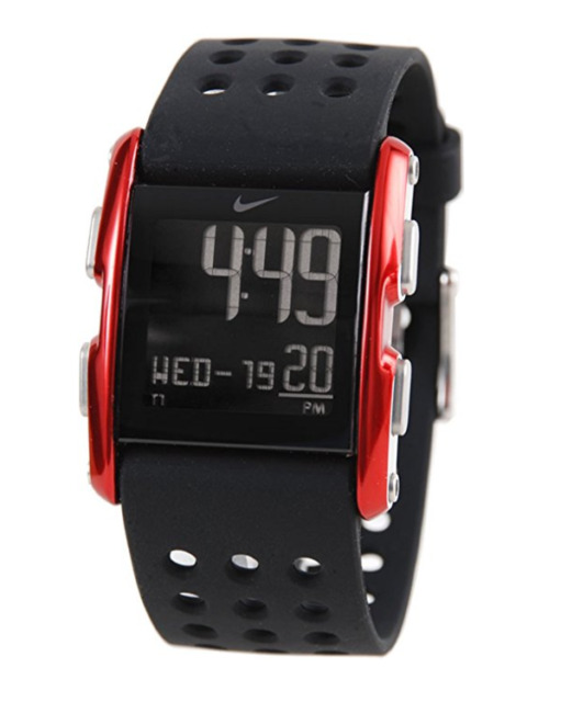 Nike Torque SI WC0067-012 Aluminum Black/Red Silicone Digital Chronograph  Watch