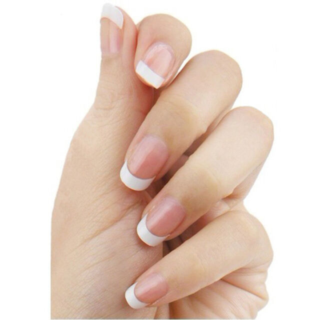 500pcs French Style White Small Fake False Fingernails Patch Nail