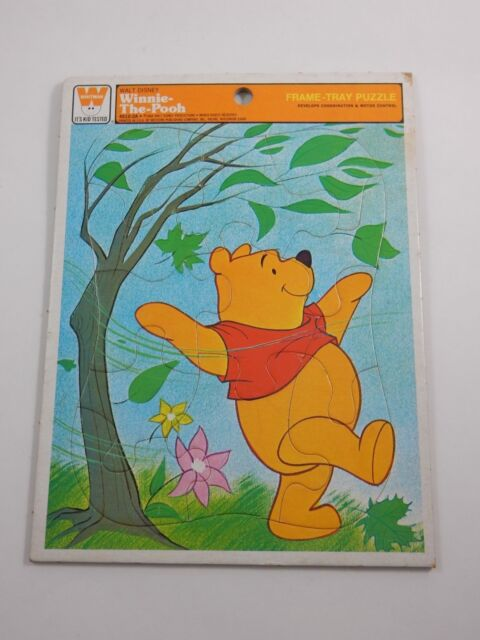 whitman 1964 walt disney winnie the pooh frame tray puzzle 4510 2a - Winnie The Pooh Picture Frame