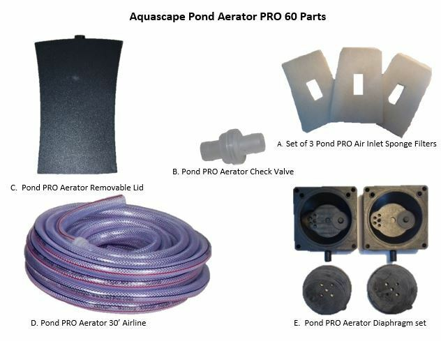 Aquascape Pond Aerator Pro 60 Parts B. Aerator Check Valve | EBay