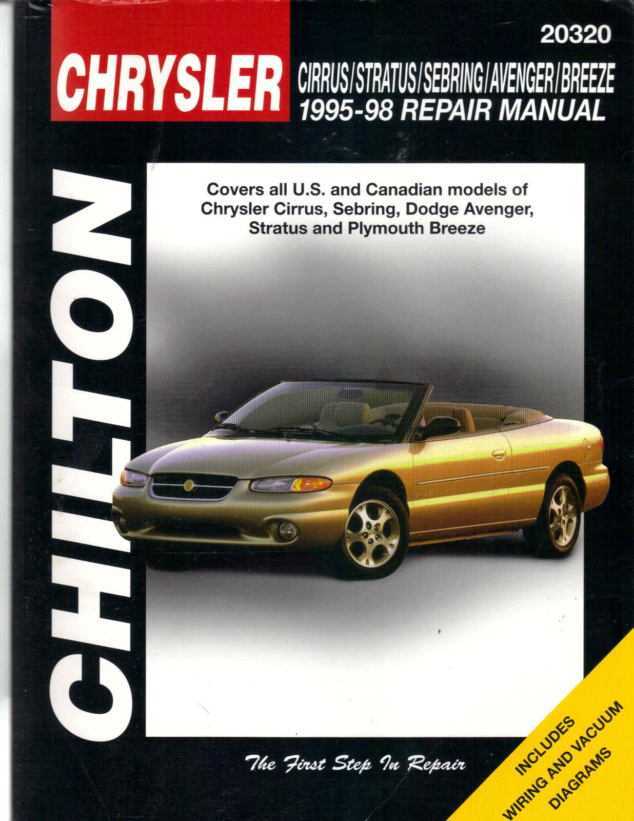 Chilton Manual 1995-1998 CHRYSLER Cirrus Sebring Dodge Avenger Stratus  Breeze | eBay