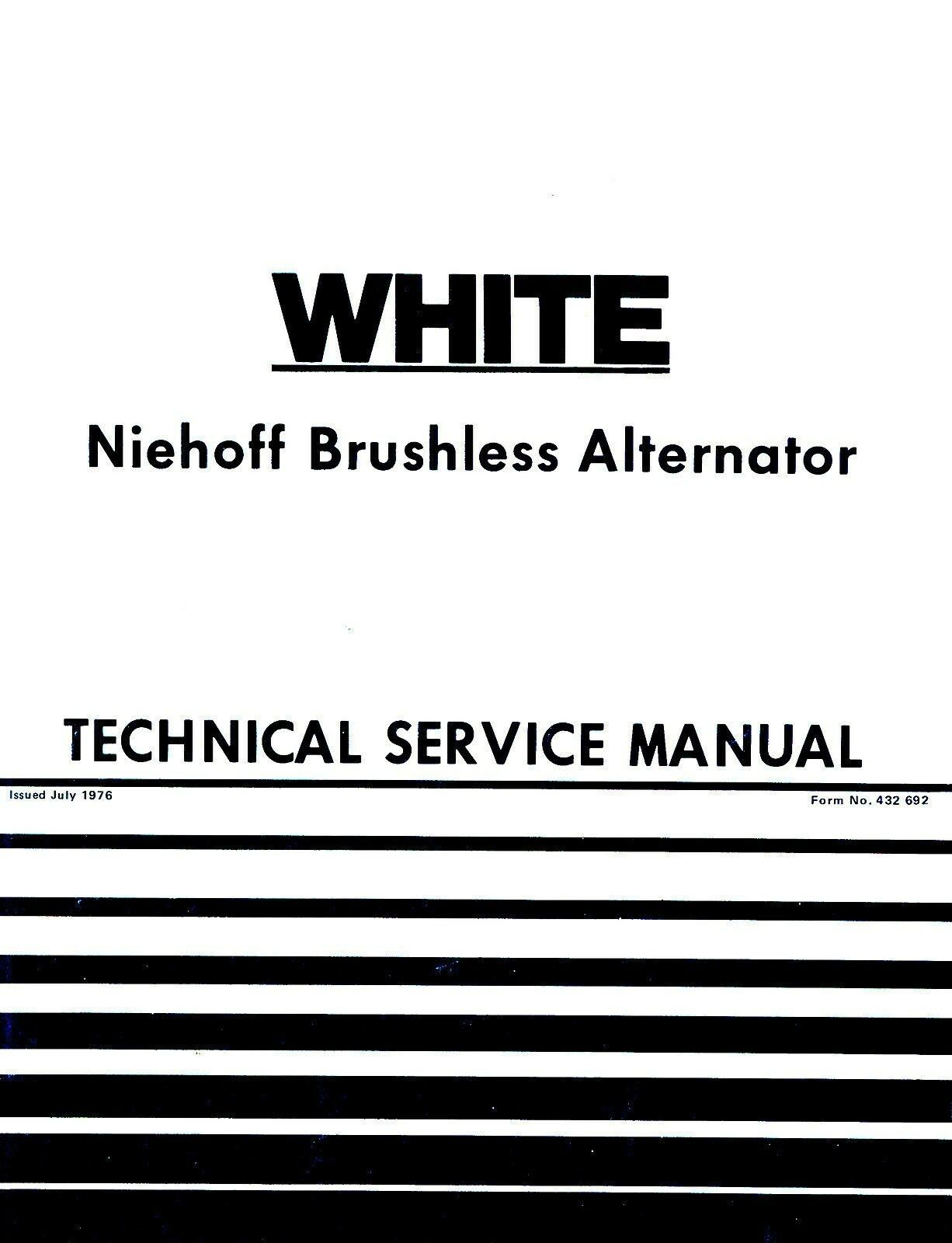 oliver white niehoff brushless alternator tractor service manual ol rh ebay com Power Max Heavy Duty Alternator Heavy Duty Truck Batteries