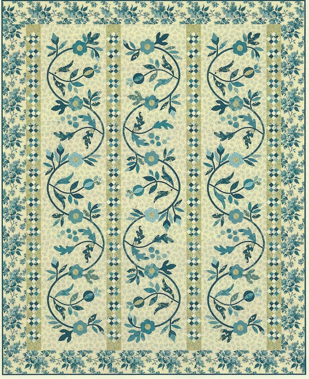 Reaching Blue Sky by Edyta Sitar of Laundry Basket Quilts | eBay : edyta sitar quilt patterns - Adamdwight.com