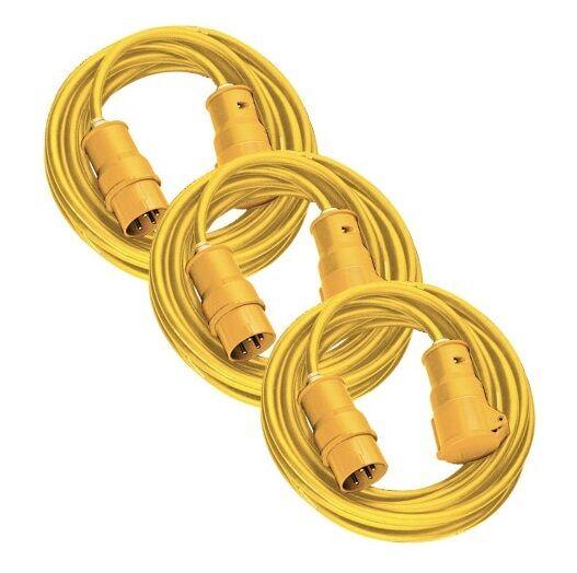 BRENNENSTUHL 1168463 2.5mm 14m Extension Lead Triplepack (16 Amp 110v)