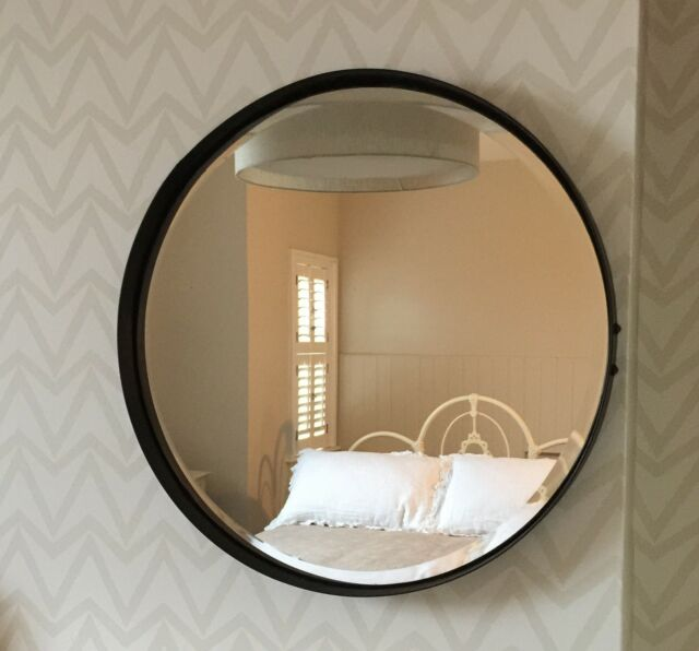 round mirror metal 55cm diameter artisan urban vintage. Black Bedroom Furniture Sets. Home Design Ideas