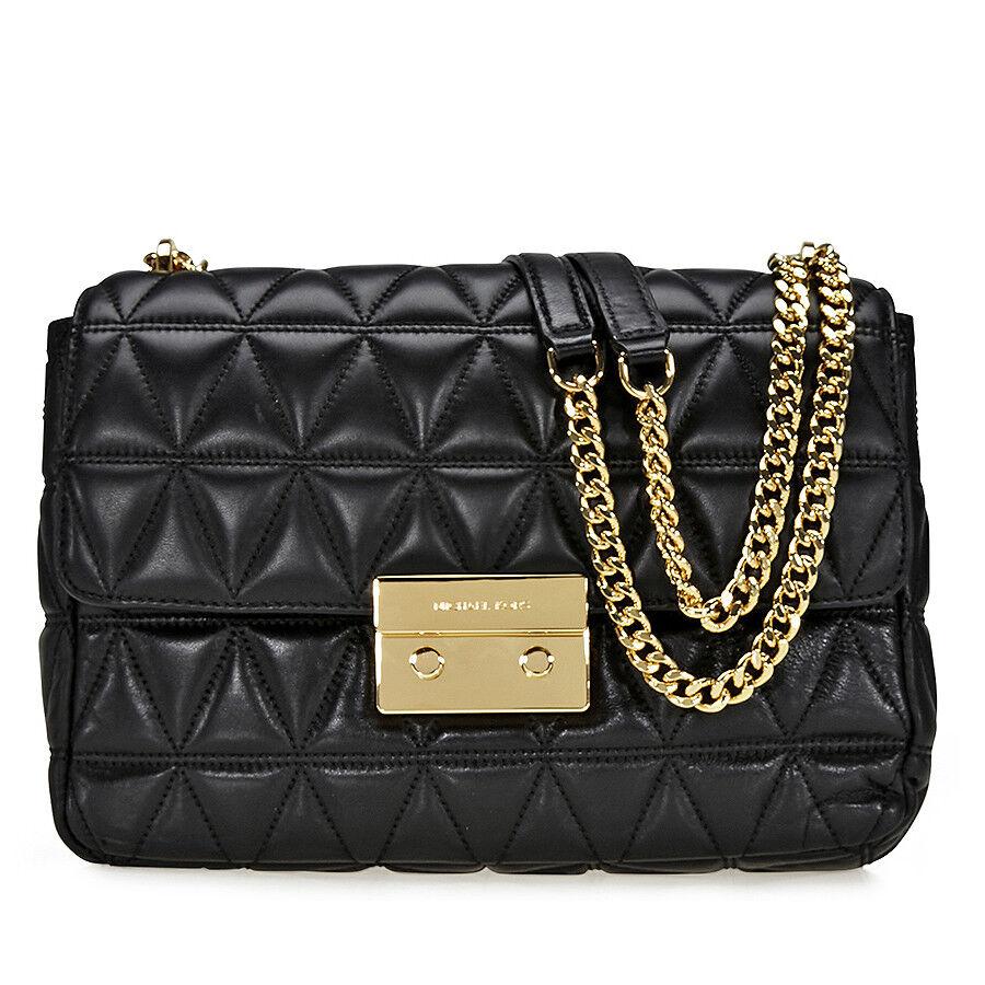 Michael Kors Sloan Extra Large Quilted Shoulder Bag- Black