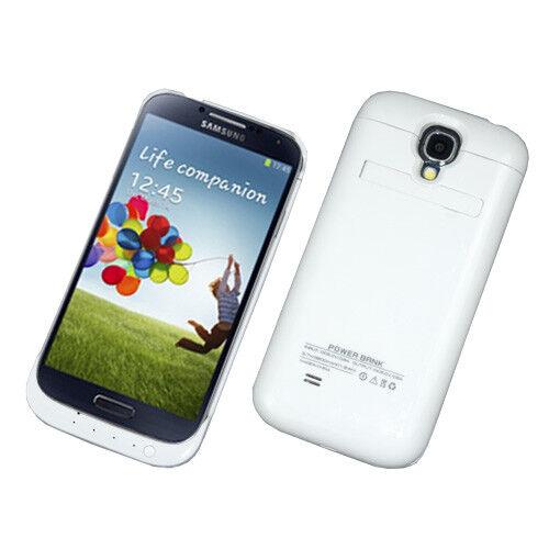 Power Lade Hülle Schale Extra Extern zusatz Akku für Samsung i9500  S4 3200 mAh