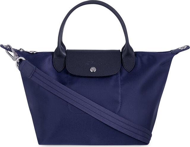 Longchamp Le Pliage Neo Small Handbag Navy Blue 100 Authentic 1512578556