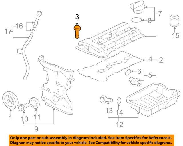 Mitsubishi Oem 09 15 Lancer Engine Parts Valve Cover Bolt 1035a572