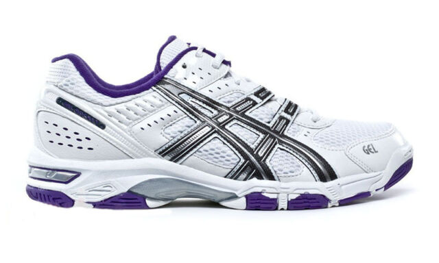 SCARPE ASICS PALLAVOLO VOLLEY BASSE GEL ROCKET 5 B053N 0197 BIANCO WHITE PURPLE