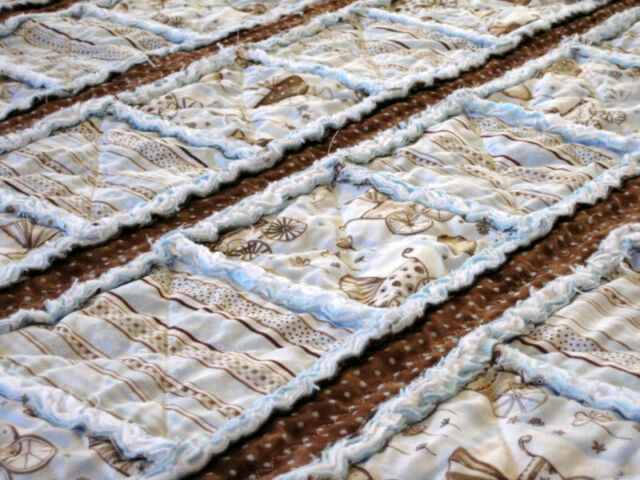 Lets Strip Rag Quilt Pattern Instructions Baby Toddler Ebay