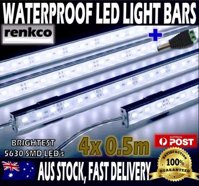 4x cool white 5630 led strip lights waterproof bars camping boat car 4x12v waterproof cool white 5630 led strip lights bars for car camping boat aloadofball Image collections