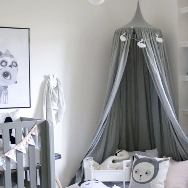 Picture 9 of 9 & Kids Baby Bed Canopy Bedcover Mosquito Net Curtain Bedding Dome ...