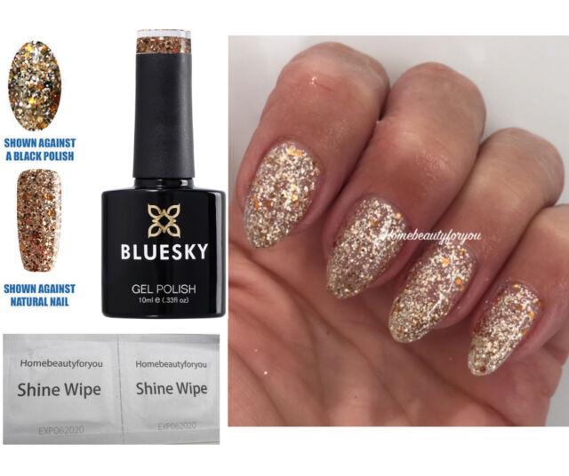 Bluesky Sp13 Gold Silver Glitter Mix Sparkle Nail GEL Polish LED UV ...