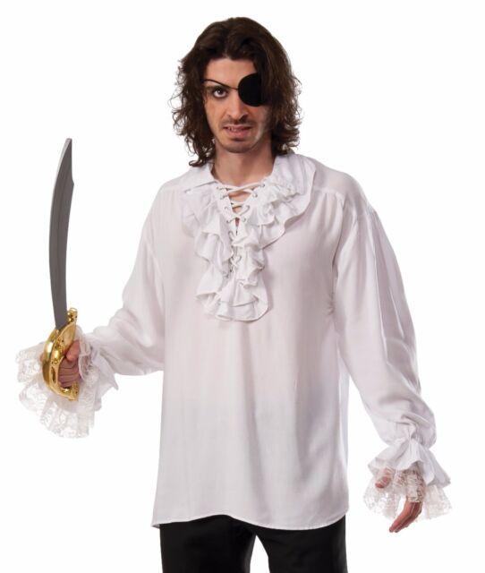 Ruffled pirate shirt renaissance colonial gothic dracula for Frilly shirts for men