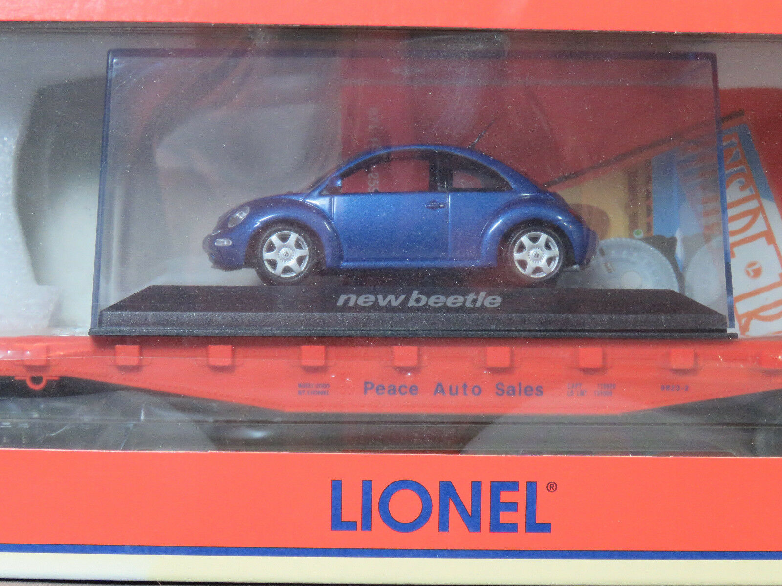 Lionel O Scale Peace Auto Sales Flat Car With Volkswagen Beetle 6