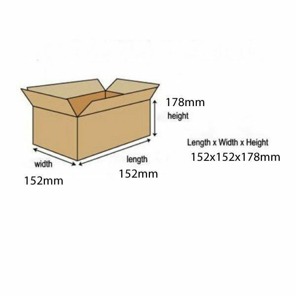 Single Wall 152x152x178mm Brown Corrugated Dispatch Cartons [JF00535]