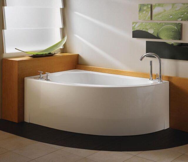 Neptune Wind 60 Whirlpool Bathtub Wi60t - Lovely Corner Tub White ...
