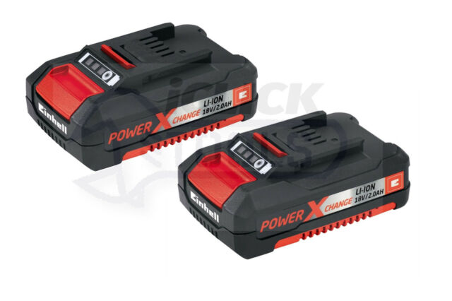 Einhell Power X-Change Li-Ion 2.0Ah 18V Lithium Battery 4511395 TWIN PACK - UK
