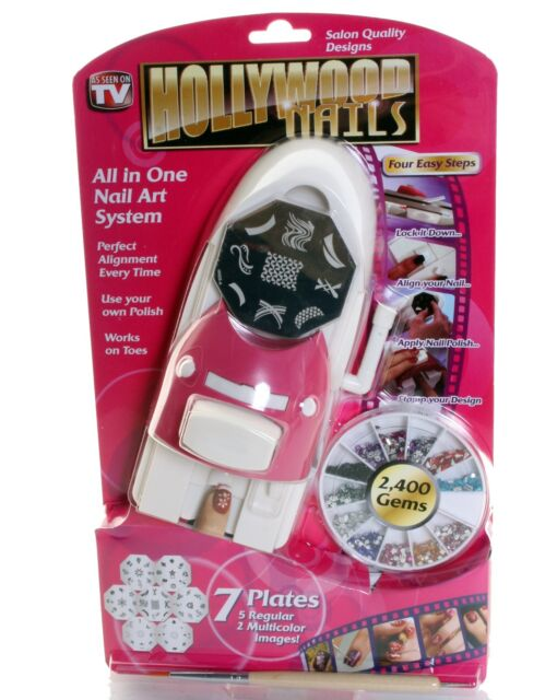 Hollywood Nails All in One Professional Nail Art System Kit as Seen ...