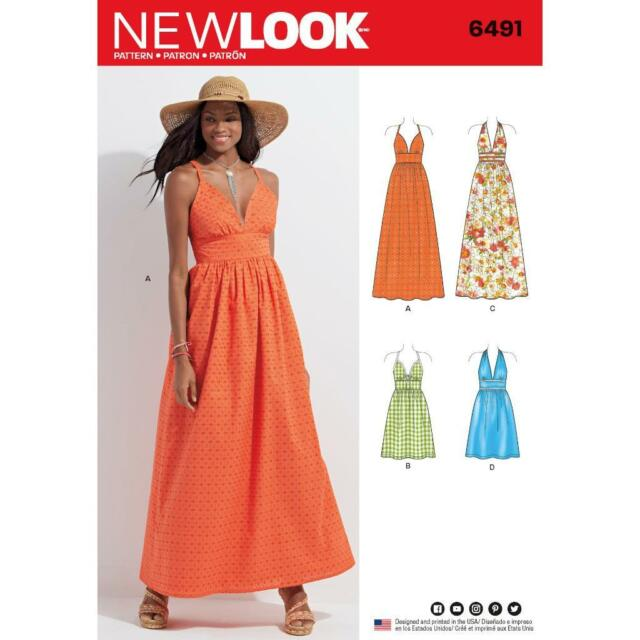 LOOK Sewing Pattern Misses\' Dresses 2 Lengths Bodice Variations 10 ...