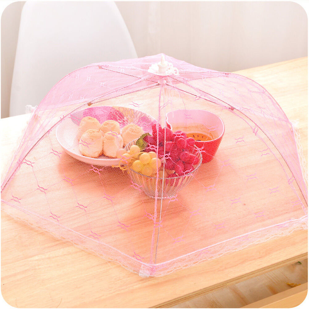Picture 1 of 9 ... & 1pc Popular Mesh Screen Protect Food Cover Tents Dome Umbrella ...