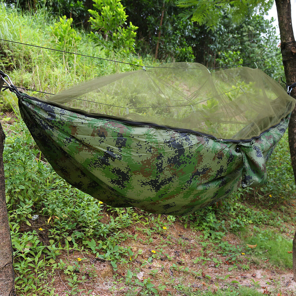 picture 12 of 12 2 person jungle hammock tent w mosquito   camping survival      rh   ebay