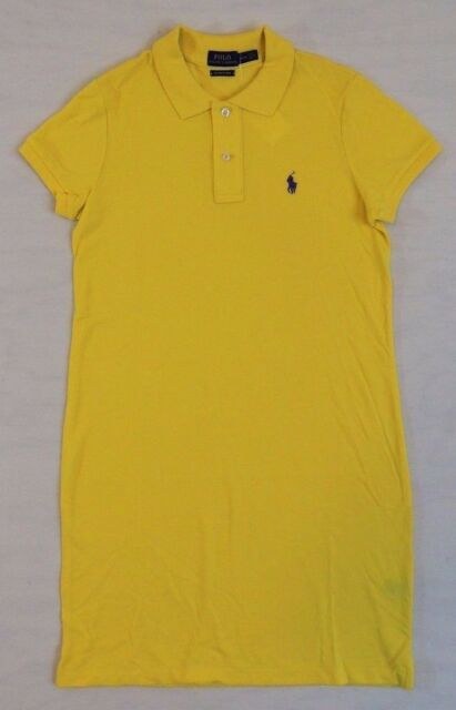 Ralph Lauren Women Mesh Yellow Polo Dresses
