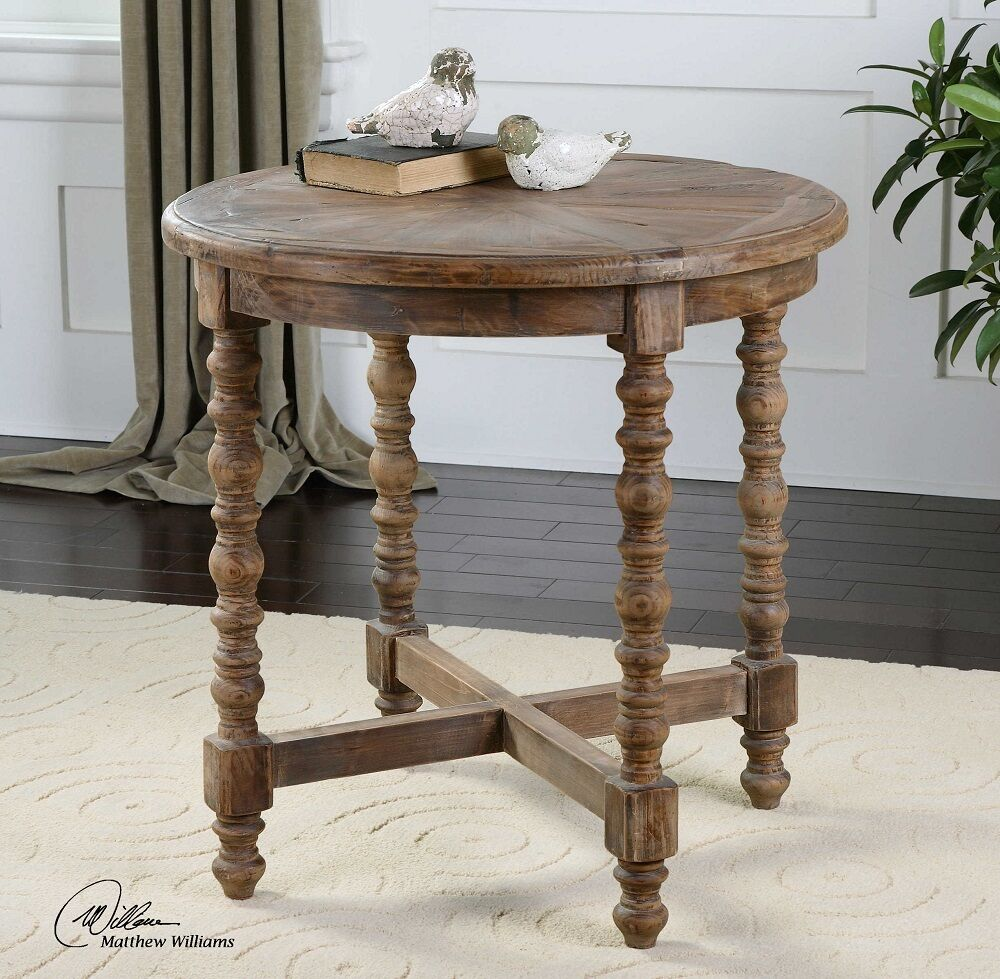 Uttermost 24346 samuelle wooden end table ebay picture 1 of 2 geotapseo Images