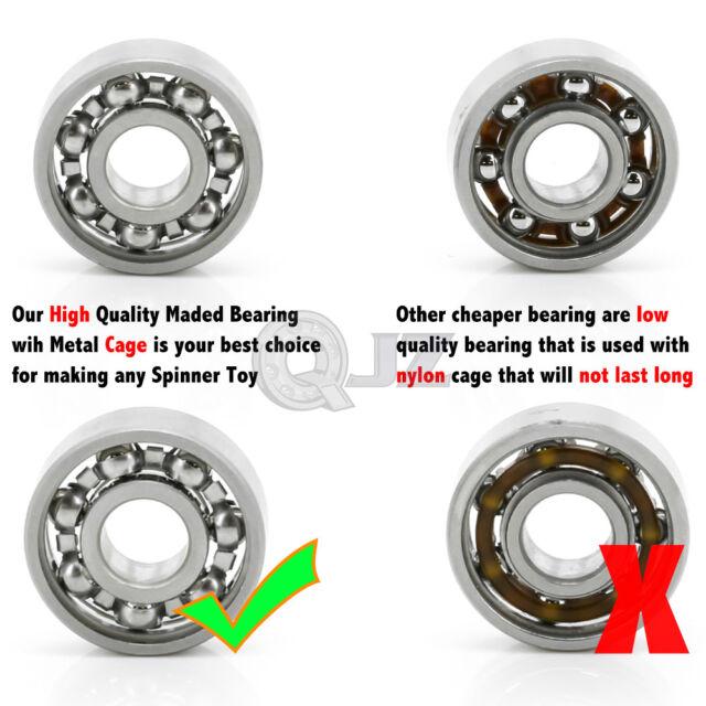 10x 608 Open Stainless Steel 22x8x7mm Fid Spinner Bearing