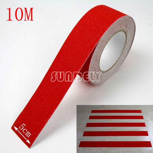 Secuda Red 5cm Safety Grip Anti Slip Stair Tread Tape 10M Roll Self Adhesive