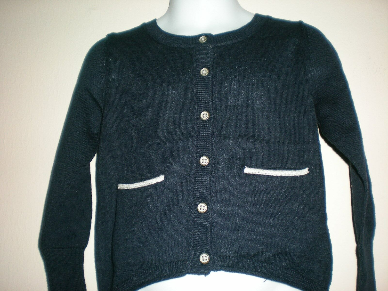 Girl Oshkosh Button-front Navy Long Sleeve Cardigan Size 3t | eBay