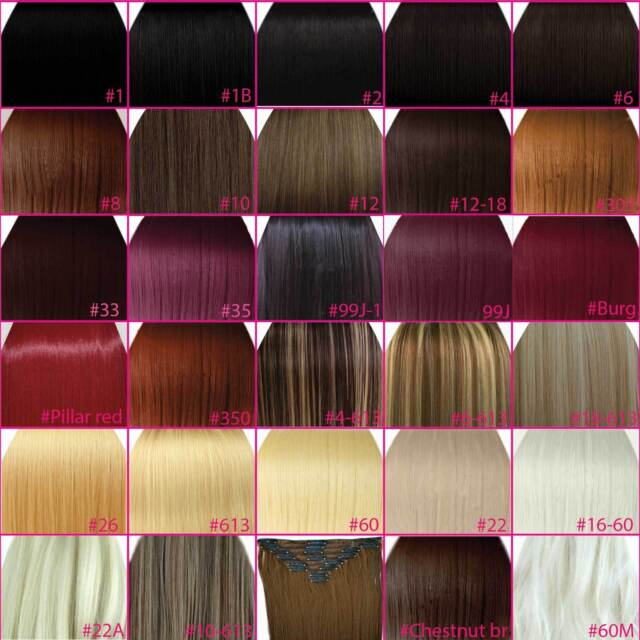 20 Clip In Hair Extensions Highlights Darkest Brown 2 Straight