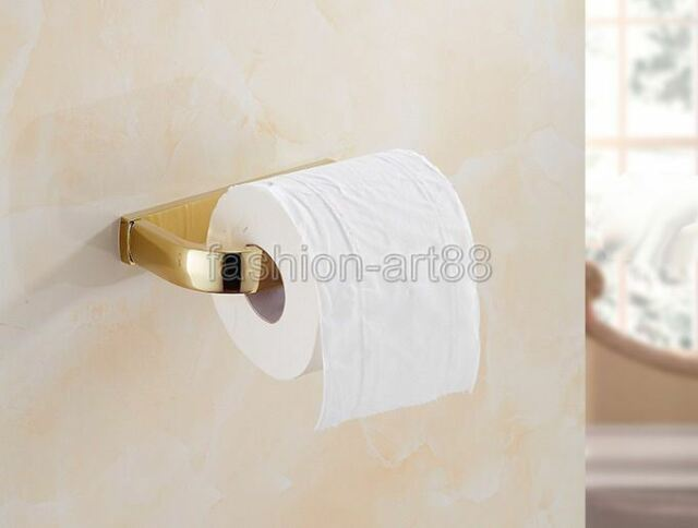 Gold Color Br Wall Mounted Bathroom Accessory Toilet Paper Roll Holder Fba848