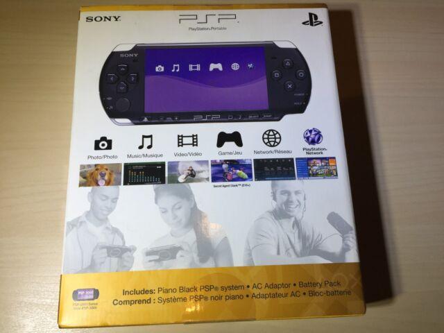 Sony PSP 3000 3001 Piano Black Handheld System NIB Brand New Sealed