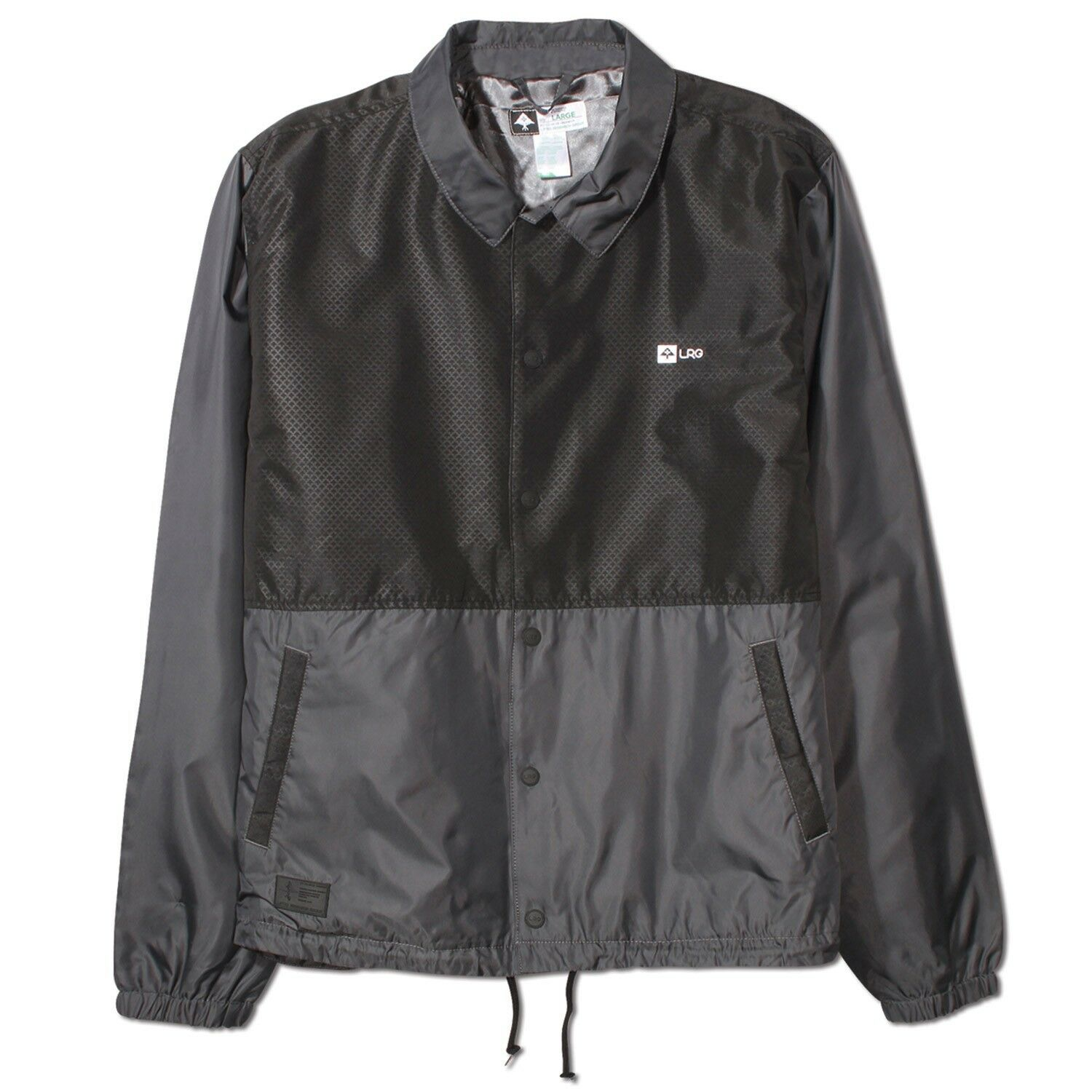 LRG High Definition Black Charcoal Grey Light Windbreaker Coaches ...