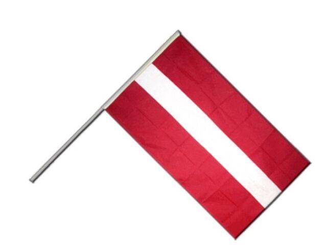 Stockflagge Stockfahne Lettland 60x90cm Fahne Flagge mit Stock