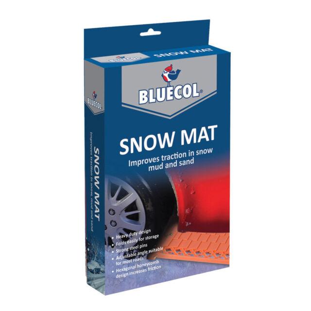 Bluecol Snow Mat Pair Heavy Duty Folding Wheel Grip Traction Tracks Ice Mud Sand